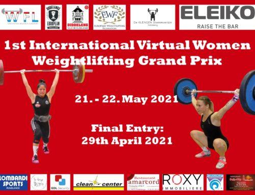 1st International Virtual Women's Grand Prix – 2021 | Results